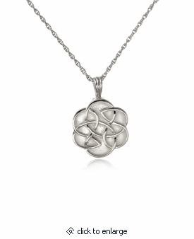 Celtic flower sterling silver cremation jewelry pendant necklace aloadofball Choice Image