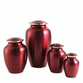 Classic Crimson Brass Pet Cremation Urn Series - Engravable