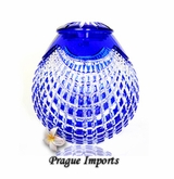Cobalt Blue Caesar Lead Crystal Cremation Urn