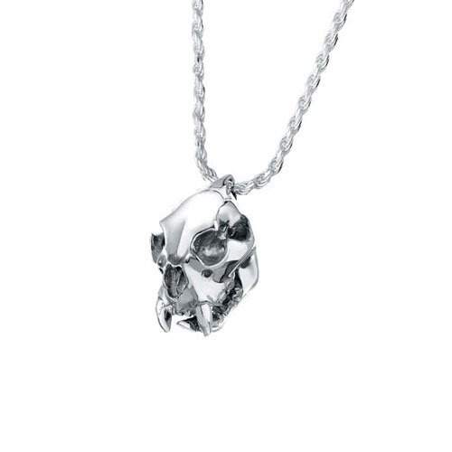 Cougar skull sterling cremation jewelry pendant necklace for ashes aloadofball