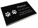 Design Your Pet Grave Marker Black Granite Laser-Engraved Memorial Headstone