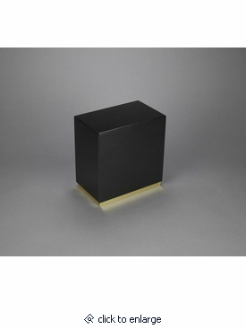 dignity nero absoluto granite cremation urn with gold trim. Black Bedroom Furniture Sets. Home Design Ideas