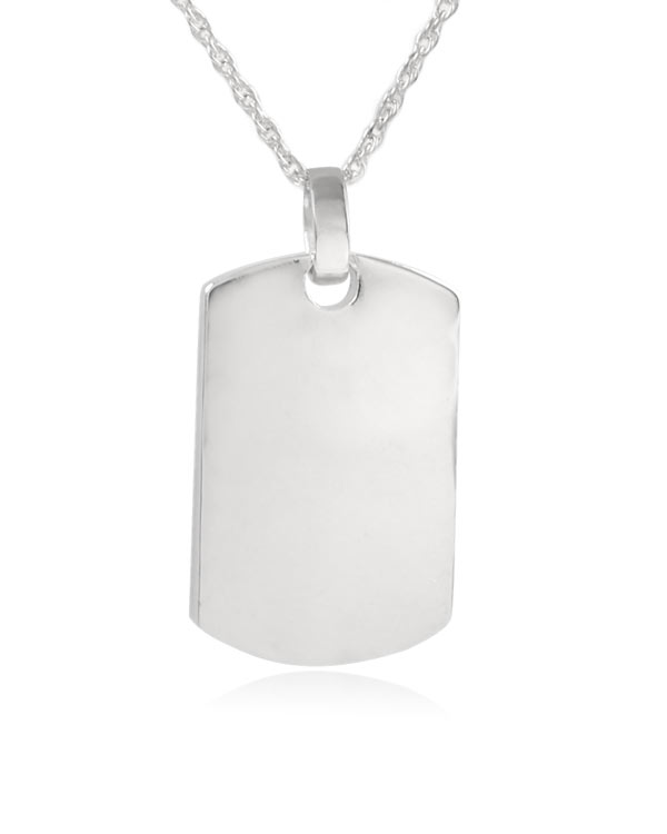 Dog tag sterling silver cremation jewelry pendant necklace aloadofball Choice Image