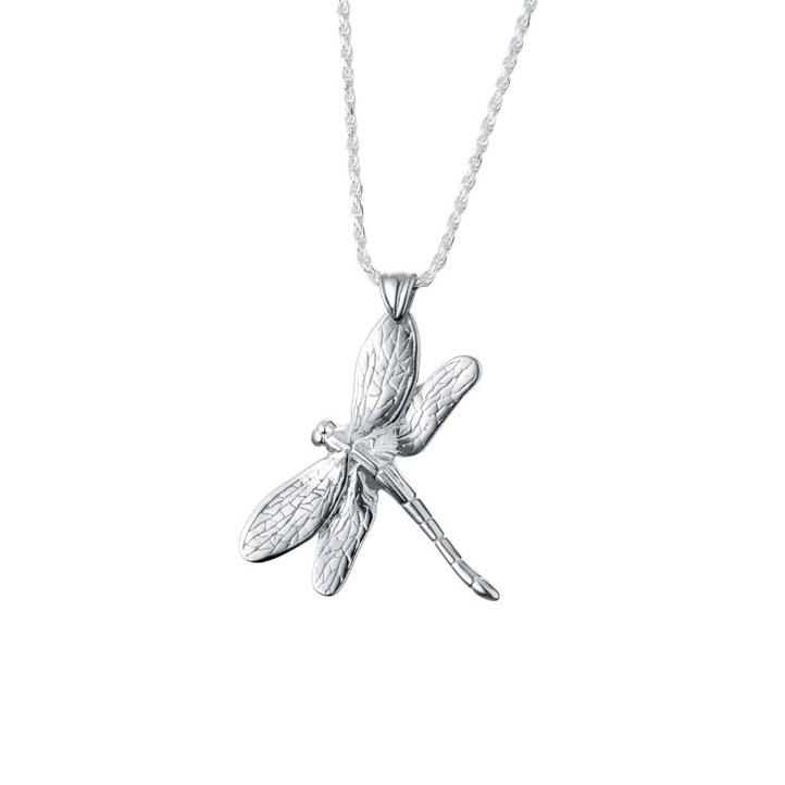 Dragonfly Sterling Silver Cremation Jewelry Pendant Necklace for Ashes