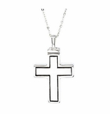 Elegant Cross Sterling Silver Cremation Jewelry Necklace