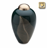 Emerald Leaf Cremation Urn