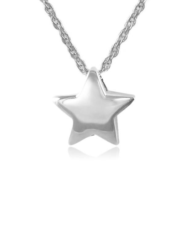 Essential star sterling silver cremation jewelry pendant necklace aloadofball Image collections