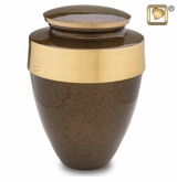 Eternity Speckled Auburn Brass Cremation Urn