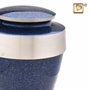 Eternity Speckled Indigo Brass Cremation Urn