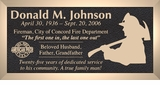 Firefighter Silhouette - Cast Bronze Memorial Cemetery Marker - 4 Sizes