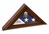 Five Star General Flag Display Case in Antiqued Cherry