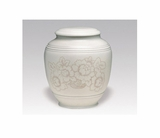 Flower Classica Porcelain Keepsake Cremation Urn