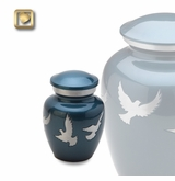 Flying Doves Keepsake Cremation Urn