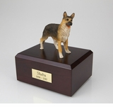 German Shepherd Dog Figurine Pet Cremation Urn - 101