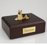 German Shepherd Dog Figurine Pet Cremation Urn - 4013