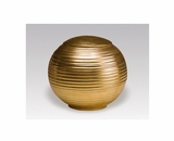 Gold Sfera Porcelain Keepsake Cremation Urn