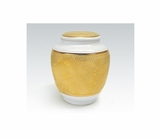 Golden Accented Classica Porcelain Keepsake Cremation Urn