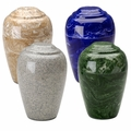 Grecian Marble Urns, (35 Colors) - Engravable on Top