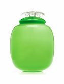 Green Flores Collection Hand Blown Glass Cremation Urn