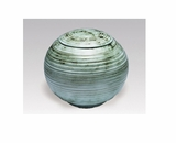 Green Sfera Porcelain Keepsake Cremation Urn