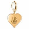 Heart Thumbies 3D Fingerprint 14k Gold Keepsake Memorial Earrings