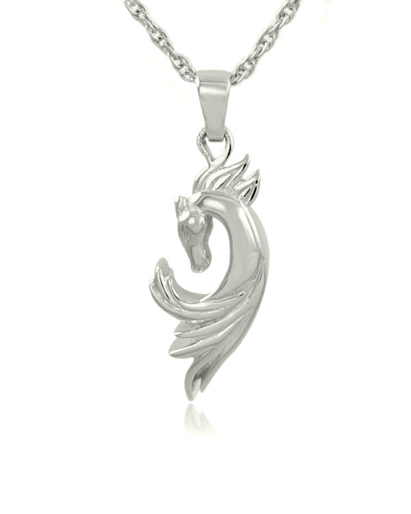 Horse sterling silver cremation jewelry pendant necklace mozeypictures Gallery