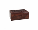 Keepsake Carved Sheesham Wood Cremation Urn