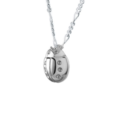 Ladybug sterling silver cremation jewelry pendant necklace for ashes aloadofball Images
