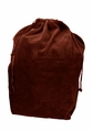 Large Burgundy Velvet Cremation Urn Bag