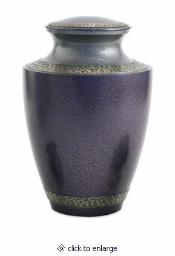 Lilac Twilight Brass Cremation Urn