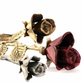 Long Stem Rose Brass Keepsake Cremation Urns