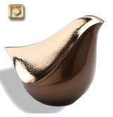 Lovebird Bronze Finish Cremation Urn