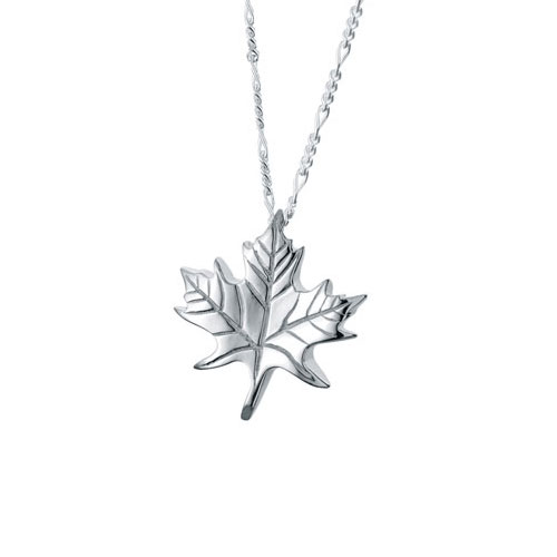Maple leaf sterling cremation jewelry pendant necklace for ashes aloadofball Gallery