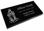 Mary Grave Marker Black Granite Laser-Engraved Memorial Headstone