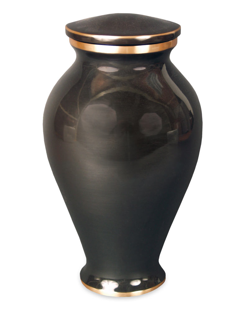 Midnight Contemporary Vase Cremation Urn