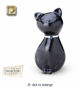 Midnight Princess Cat Pet Cremation Urn