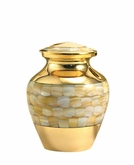 Mother of Pearl Elite Extra Small Pet Cremation Urn