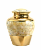 Mother of Pearl Elite Small Pet Cremation Urn