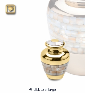 Mother of Pearl Keepsake Cremation Urn by LoveUrns