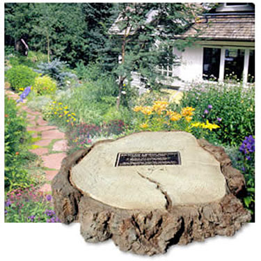 Old Grove Tree Monument with Bronze Plaque|Cast Stone Memorial Tree