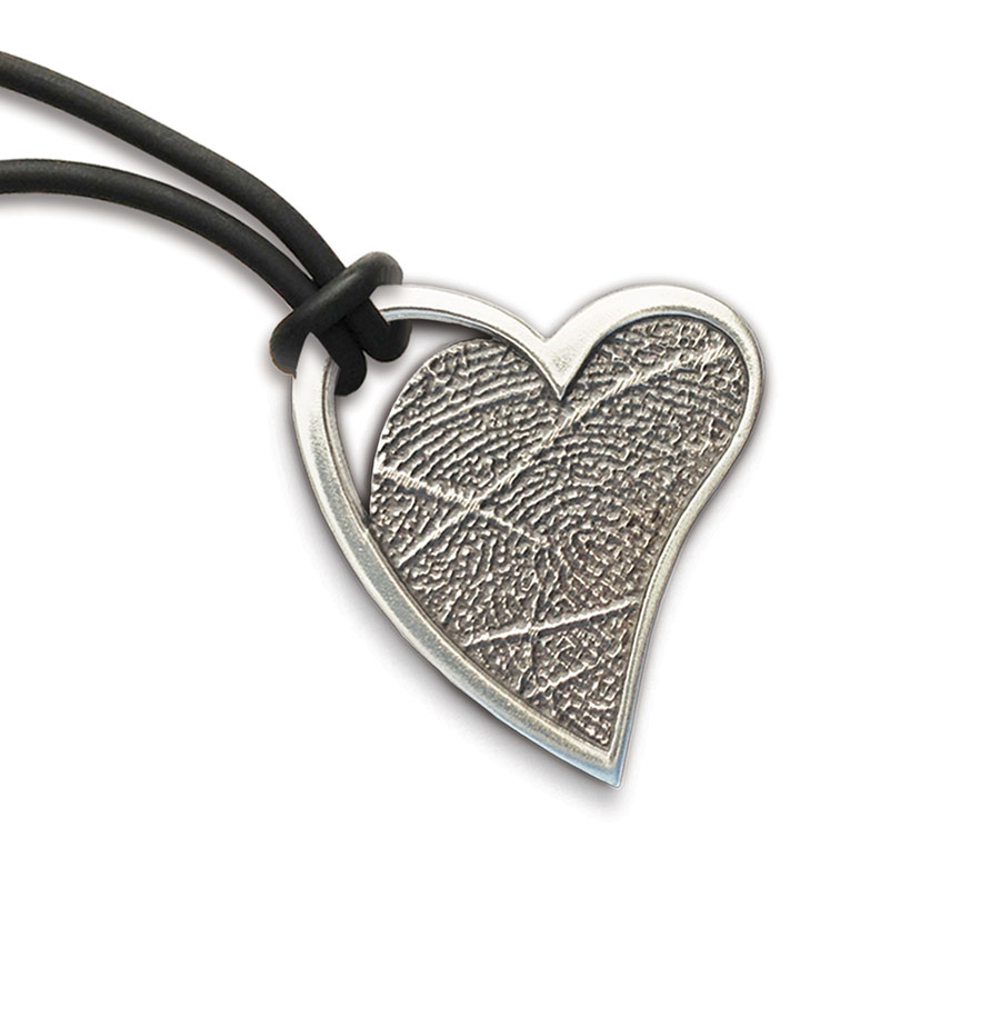 bronze fingerprint pendant double rectangle white memorial keepsake thumbies
