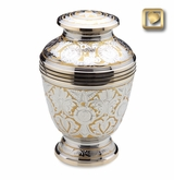 Ornate Floral Brass Cremation Urn