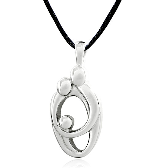 Parents and child heart stainless cremation jewelry pendant necklace aloadofball Images