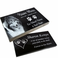 Pet Grave Markers - Polished Black Granite Memorial Headstones