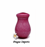 Pink Capri Hand Blown Glass Cremation Urn