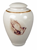 Praying Hands Handmade Classic Vase Porcelain Cremation Urn