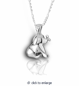 Puppy and butterfly sterling silver pet cremation jewelry necklace puppy and butterfly sterling silver pet cremation jewelry pendant necklace aloadofball Choice Image