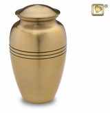 Radiance Gold Brass Cremation Urn