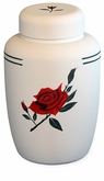 Red Rose Cornstarch Biodegradable Cremation Urn