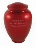 Red Traditional Vase Style Alloy Cremation Urn